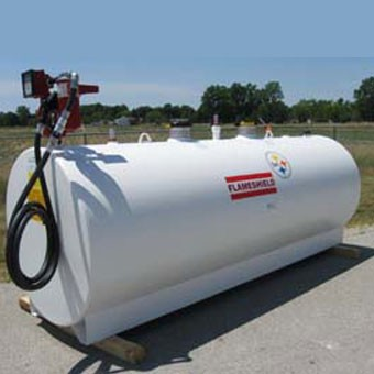 Vortex Flame shield gasoline storage tank